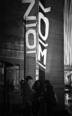 ZOOM – Basle Film Festival & Film Prize ° Identity by Andreas Hidber, via Behance Storefront Signage, Wayfinding Signage, Environmental Graphics, Environmental Design, Museum Identity, Typo Design, The Best Films, Film Awards, Film Festival