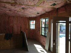 Interior insulation complete