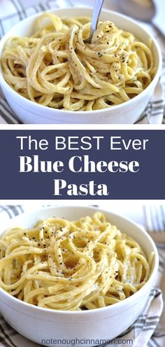 This easy Blue Cheese Pasta recipe uses only a handful of ingredients and comes together in a snap. The perfect comfort food for a cold winter day to share with family and friends. #pastarecipes, #weeknightdinner Blue Cheese Recipes, Blue Cheese Sauce, Cashew Cheese, Pasta Recipes, Dinner Recipes, Cooking Recipes, Dessert Recipes, Crockpot, Vegetarian Recipes