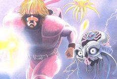 """Ingranditmento dettaglio della cover art (box), del videogioco """"Isolated Warrior"""", 1991, sviluppato da """"KID"""" per Nintendo Nes. (pict. from honest gamers review)"""