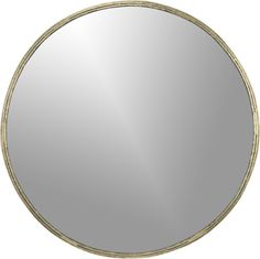 "tork brass dripping mirror  | CB2 Like this. 30"" diameter--you think this would be OK size for powder room?"