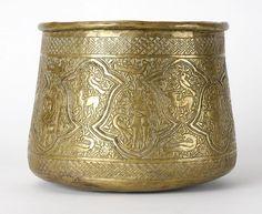 Small Antique Persian Qajar Vessel, C. Qajar Dynasty, Jewelry Art, Jewelry Design, Ancient Persia, Iranian Art, Ottomans, Islamic Art, Art Designs, Metal Working