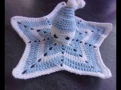 Doudou étoile au crochet (partie 1 réaliser l'étoile) - YouTube