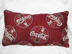 *Set of 2* COCA COLA Pillows CASINGS Beautiful Tapestry Fabric
