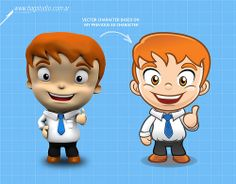 Businessman Character 3D to Vector