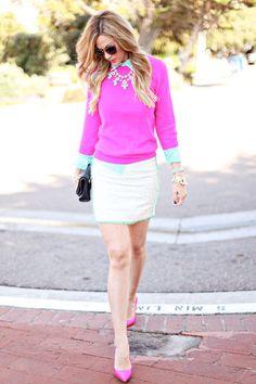 preppy college glam fashion | Cute teen fashion / Preppy College Glam