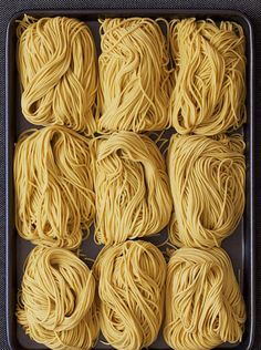 Alkaline Noodles can be used to made Chinese Cold Noodles, Hot Dry Noodles. The alkaline causes the flour to swell and make softer fuller noodles. Mie Noodles, Water Noodles, Cold Noodles, Egg Noodle Recipes, Ramen Recipes, Asian Recipes, Cooking Recipes, Indonesian Recipes, Orange Recipes