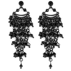 OASIS Jet Vintage Earring ($26) ❤ liked on Polyvore featuring jewelry, earrings, accessories, black, bijoux, black vintage jewelry, vintage jewellery, kohl jewelry, vintage jewelry y vintage earrings