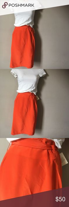 The Works Saks Fifth Avenue Women's skirt The Works Saks Fifth Avenue women's skirt orange size 14. Saks Fifth Avenue Skirts Pencil