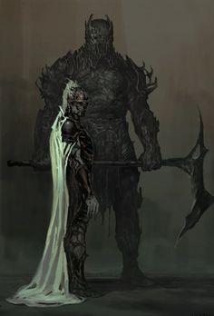 Concept art de Thor: El Mundo Oscuro (2013), Malekith y Kurse por Justin Sweet
