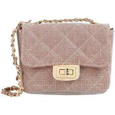 George J. Love Cross-body Bag (315 BRL) ❤ liked on Polyvore featuring bags, handbags, shoulder bags, pastel pink, handbags crossbody, purse crossbody, shoulder handbags, crossbody purse and leather handbags