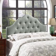 Sovereign King Fabric Headboard in Gray | Modern Headboard by Modway at Contemporary Modern Furniture  Warehouse - 4
