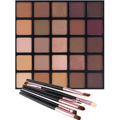 Matte and Shimmer Eyeshadow Palette, Vodisa 25 Smoky Warm Color Eye... (50 PLN) ❤ liked on Polyvore featuring beauty products, makeup, eye makeup, eyeshadow and palette eyeshadow