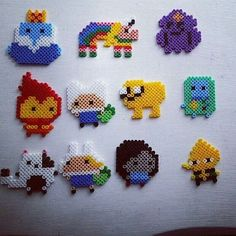 Adventure Time characters perler beads by lukes8bitworld