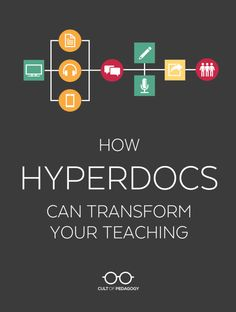How HyperDocs Can Transform Your Teaching - HyperDocs make room for more interactive, personalized, and student-directed learning. Let's look at how they work. Teaching Technology, Educational Technology, Technology Tools, Teaching Computers, Educational Leadership, Business Technology, Medical Technology, Energy Technology, Google Classroom