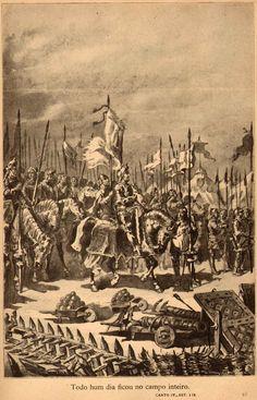 Portuguese King João I before battle of Aljubarrota 1385