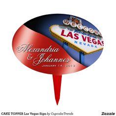 CAKE TOPPER Las Vegas Sign