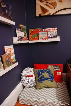 Google Image Result for http://projectnursery.com/wp-content/uploads/2012/03/8-discovery-adventure-toddler-bedroom-reading-nook-687x1024.jpg