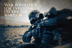 War is politics