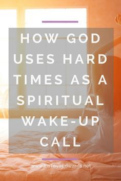 When we are spiritually asleep the enemy will to keep you down. God can use this to get your attention. Wake up prayer warrior!