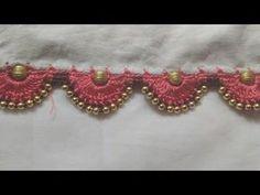 How to do Crochet / Krosha Saree Tassels using Silk Thread, Beads and Kuchu at Home Saree Tassels Designs, Saree Kuchu Designs, Blouse Designs, Sleeves Designs For Dresses, Dress Neck Designs, How To Do Crochet, Latest Silk Sarees, Saree Styles, Diamond Cuts