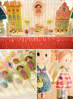 Sweet & Girly Mooshka Dolls Inspired Birthday Party