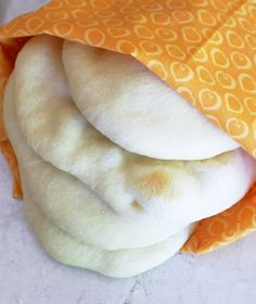 Fresh, homemade PITA BREAD for gyros and hummus dipping