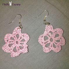 Pink flower crocheted earrings! Ροζ σκουλαρίκια λουλουδάκια φτιγμένα με βελονάκι! Crochet Earrings, Jewelry, Fashion, Moda, Jewlery, Jewerly, Fashion Styles, Schmuck, Jewels