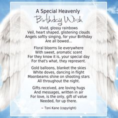 Loved One In Heaven On Birthday