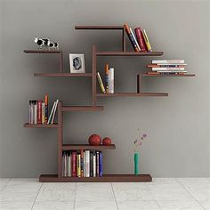 Decortie Bonsai Bookcase, Wenge