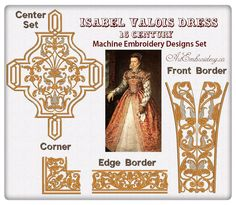 Isabel Valios Dress   Embroidery Designs Sets for