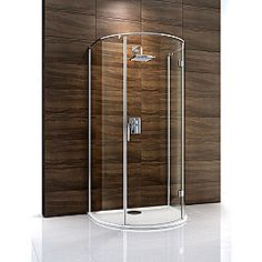 Cooke & Lewis Cascata D-Shaped Shower Enclosure (H)1995 x (W)1100 x (D)900mm, 600