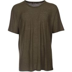 T by Alexander Wang Short Sleeve T-Shirts ($46) ❤ liked on Polyvore featuring men's fashion, men's clothing, men's shirts, men's t-shirts, brown, mens short sleeve shirts, mens scoop neck t shirt, mens brown shirt and mens short sleeve t shirts