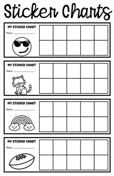 Sticker charts for positive behavior incentives Behavior Sticker Chart, Sticker Chart Printable, Printable Reward Charts, Reward Chart Kids, Incentive Charts, Rewards Chart, Behavior Incentives, Student Behavior, Behavior Management