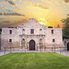 The Alamo during sunset