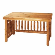 White cedar log writing desk.
