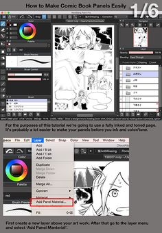 Part 1 of 6. How to make comic book panels in MediBang Paint. It's free free software. You can find it here. http://medibangpaint.com/en/