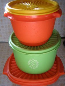Really, really old Tupperware....my favorites because of all the memories they hold! My Mom had these
