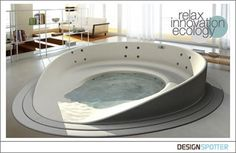 Sweet tub. Right out of a spaceship, or cyber genetics lab or even a transforming alien capsule.