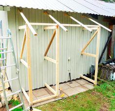 10 ideas for a garden decoration - HomeDBS Garden Storage Shed, Storage Shed Plans, Diy Shed, Outside Storage, Outdoor Storage, Backyard Sheds, Backyard Landscaping, Lavabo Exterior, Wood Shed