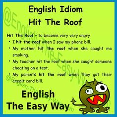My father ______ when he saw the bill. 1. bill 2. hit the roof 3. both #Idiom