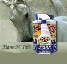 Mane N' Tail FREE Detangler with 32oz Shampoo and Conditioner by Mane N' Tail. $23.90. Results may be seen after one application. Micro-enriched protein formula fortified with moisturizers and emollients that condition leaving coat, mane and tail soft and shiny. Regular use enhances coat health and appearance. Keeps hair tangle free, soft and manageable for grooming and braiding. FREE 16oz Detangler with 32oz Conditioner and shampoo. Shampoo has an exclusive formula ...