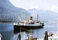 Canadian Prince Arriving at Ocean Falls Boat Plans, British Columbia, West Coast, Vancouver, Boats, Sailing, Coastal, Canada, Ocean