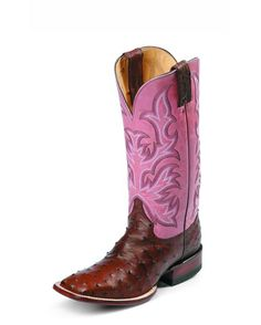 JUSTIN Antique Brown Full Quill Ostrich Boot - L8506 @ countryoutfitter.com