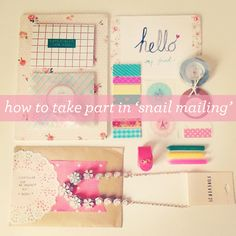 A few tips for getting into #snailmail #happymail