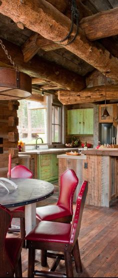 Expanding a cozy log cabin bar stool stools and cabin - Maison rustique dan joseph architects ...