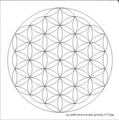 Mandala Monday Free Flower Of Life To Color
