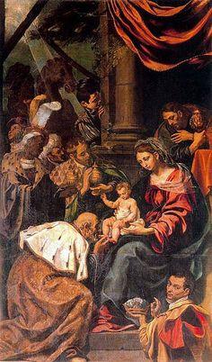 Tristan di Luis. Adoración de los Reyes. Pala d'altare della vita di Cristo. Parrocchia di San Benito Abad. YEPES. Toledo