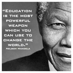 May not be able to change the whole world... But you can most definitely start with your own world. Always always educate yourself!