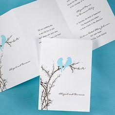 Aqua Love Birds Wedding Invitations This Bright White Card Features An Aqua  And Mocha Love Bird